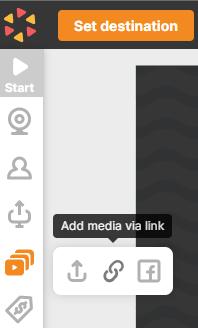 Upload videos via link belive